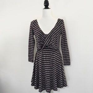 2684d5f7ead87 Free People Dresses - Free People Maverick Eggplant Striped Dress Wrap